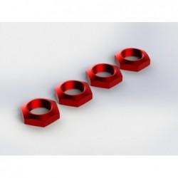 Tuercas rueda de aluminio 17 mm ARRMA rojo (AR330360) 4 uds.