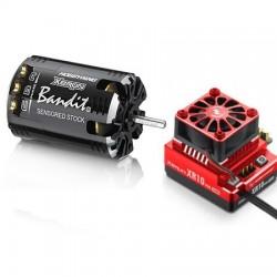 Combo Hobbywing XERUN XR10 160A Pro Red + Motor Bandit 13.5T