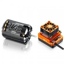 Combo Hobbywing XER10 XR10 Pro Orange + Motor G2 V10 5.5T