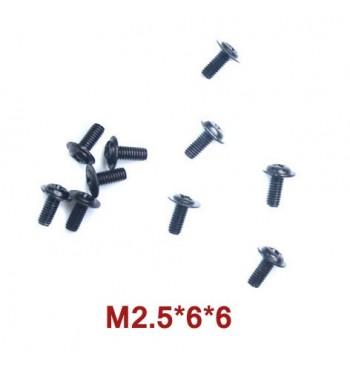 Tornillos de 2.5x6x6 mm WLtoys (A949-43) 10 uds.
