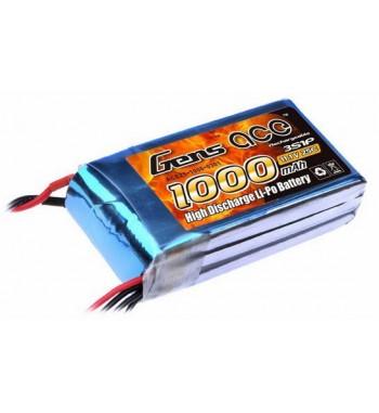 Bateria LiPo Gens Ace 1000mAh 11.1v 25C 3S1P