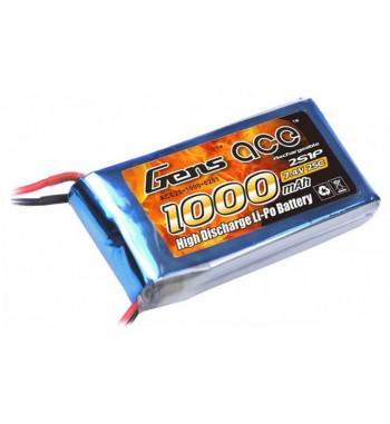 Bateria LiPo Gens Ace 1000mAh 7.4v 25C 2S1P