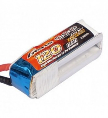 Bateria LiPo Gens Ace 120mAh 7.4v 30C 2S1P