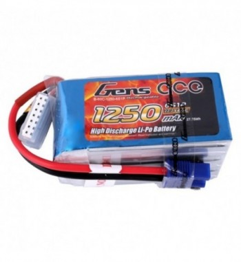 Bateria LiPo Gens Ace 1250mAh 22.2v 60C 6S1P