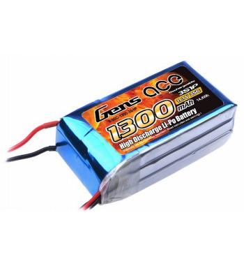 Bateria LiPo Gens Ace 1300mAh 11.1v 25C 3S1P