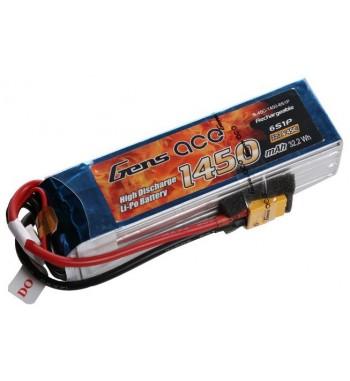Bateria LiPo Gens Ace 1450mAh 22.2v 45C 6S1P