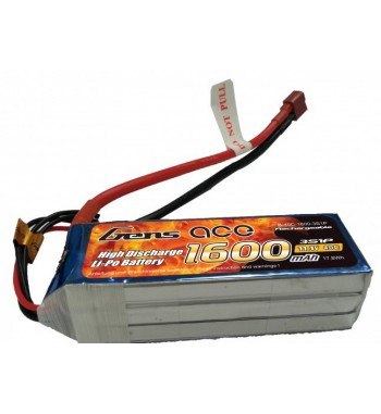 Bateria LiPo Gens Ace 1600mAh 11.1v 40C 3S1P