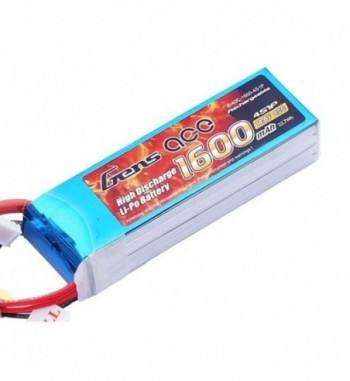 Bateria LiPo Gens Ace 1600mAh 14.8v 40C 4S1P