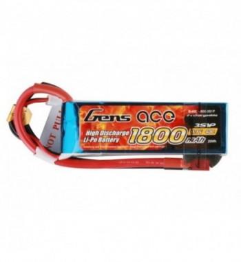 Bateria LiPo Gens Ace 1800mAh 11.1v 40C 3S1P