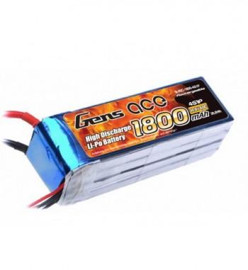 Bateria LiPo Gens Ace 1800mAh 14.8v 40C 4S1P
