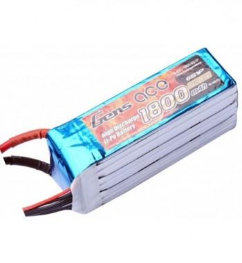 Bateria LiPo Gens Ace 1800mAh 22.2v 45C 6S1P