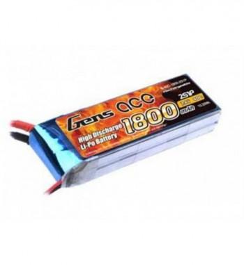 Bateria LiPo Gens Ace 1800mAh 7.4v 40C 2S1P