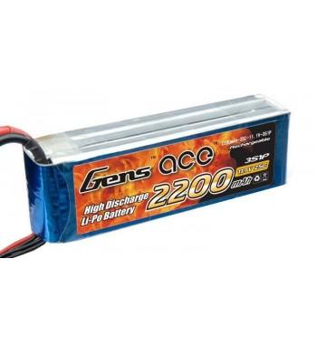 Bateria LiPo Gens Ace 2200mAh 11.1v 25C 3S1P