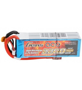 Bateria LiPo Gens Ace 2200mAh 14.8v 25C 4S1P