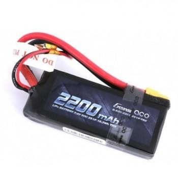Bateria LiPo Gens Ace 2200mAh 7.4v 50C 2S1P XT60 Hardcase