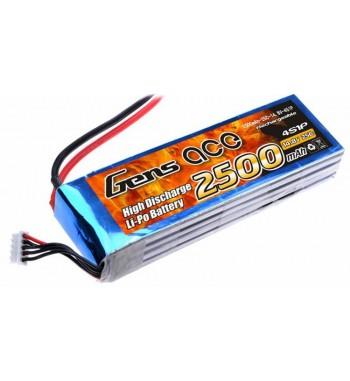 Bateria LiPo Gens Ace 2500mAh 14.8v 25C 4S1P