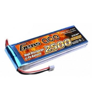 Bateria LiPo Gens Ace 2500mAh 7.4v 25C 2S1P