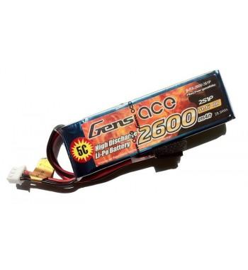 Bateria LiPo Gens Ace 2600mAh 11.1v 25C 3S1P Futaba
