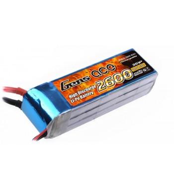 Bateria LiPo Gens Ace 2600mAh 11.1v 60C 3S1P