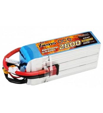 Bateria LiPo Gens Ace 2600mAh 22.2v 60C 6S1P