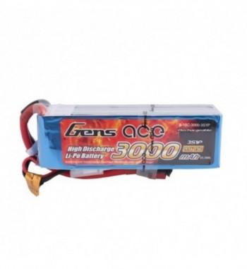 Bateria LiPo Gens Ace 3000mAh 11.1v 15C 3S1P