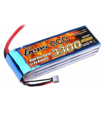 Bateria LiPo Gens Ace 3300mAh 11.1v 25C 3S1P