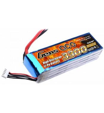 Bateria LiPo Gens Ace 3300mAh 14.8v 25C 4S1P