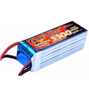 Bateria LiPo Gens Ace 3300mAh 22.2v 45C 6S1P