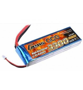 Bateria LiPo Gens Ace 3300mAh 7.4v 25C 2S1P