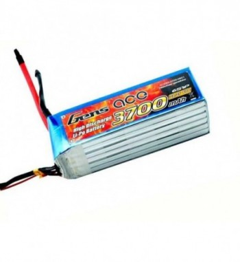 Bateria LiPo Gens Ace 3700mAh 22.2v 60C 6S1P