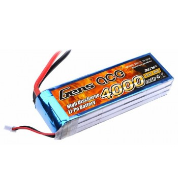 Bateria LiPo Gens Ace 4000mAh 11.1v 25C 3S1P