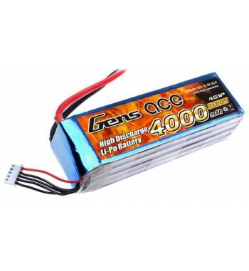 Bateria LiPo Gens Ace 4000mAh 14.8v 25C 4S1P