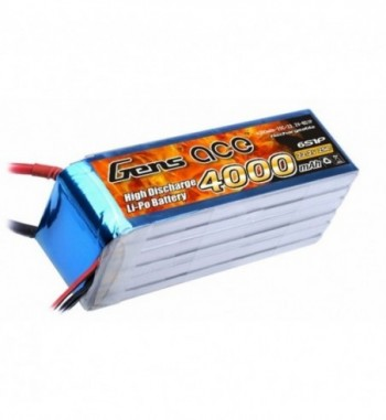 Bateria LiPo Gens Ace 4000mAh 22.2v 25C 6S1P