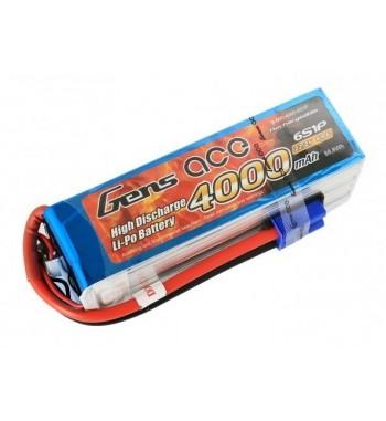 Bateria LiPo Gens Ace 4000mAh 22.2v 60C 6S1P