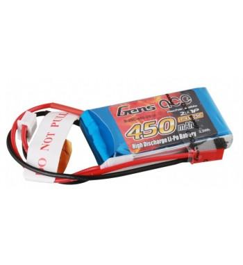 Bateria LiPo Gens Ace 450mAh 7.4v 25C 2S1P
