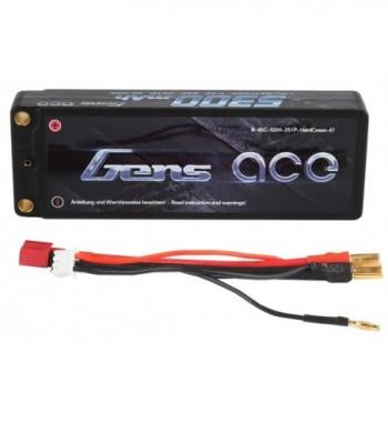 Bateria LiPo Gens Ace 5300mAh  7.4v 65C 2S1P Hardcase