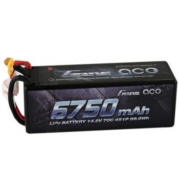 Bateria LiPo Gens Ace 6750mAh 14.8v 70C 4S1P Hardcase