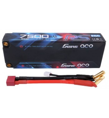 Bateria LiPo Gens Ace 7500mAh 7.6v 100C 2S1P Hardcase RS
