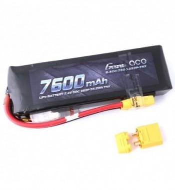Bateria LiPo Gens Ace 7600mAh 7.4v 50C 2S2P XT90 Hardcase