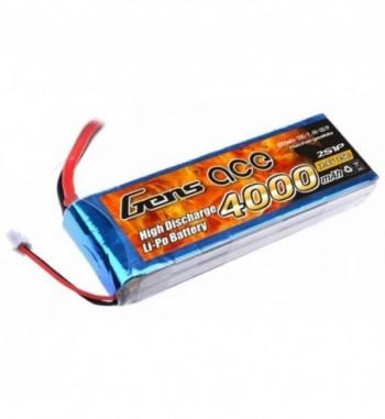 Bateria LiPo Gens ace 4000mAh 7.4v 25C 2S1P T-Dean