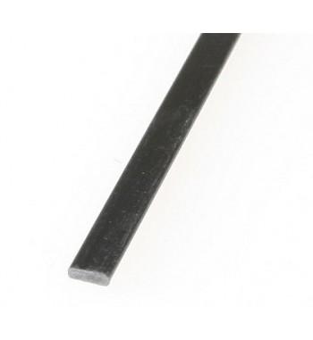 Perfil de fibra de carbono 0.6x4x1000 mm