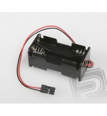 Portapilas con conector Futaba para 4x AA