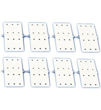 Visagras de plastico 34x16 mm - 10 unidades