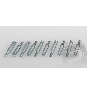 Clavijas de metal M2 x10 uds.