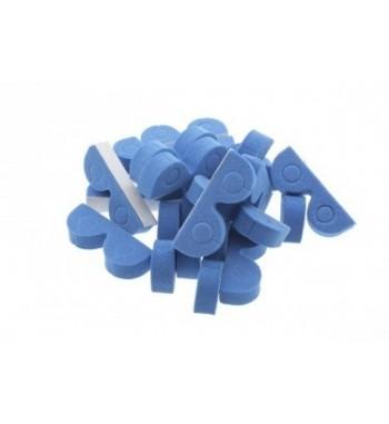 Soporte para cable 4mm Azul x20 uds.