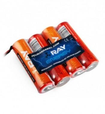 Pack bateria para receptor NiMH 4.8v 2000 mAh AA LONG RAY - Tipo 1