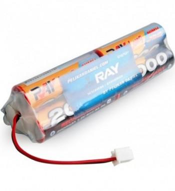 Pack bateria NiMH 7.2v 2000 mAh AA LONG RAY