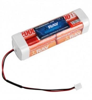 Pack bateria NiMH 9.6v 2000 mAh AA LONG RAY