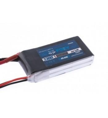 Bateria LiPo FOXY 1300 mAh 7.4v 40/80C 9.6Wh