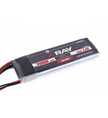 Bateria LiPo RAY 1600 mAh 7.4v 30/60C Air Pack
